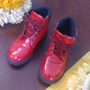 Sperry Top Siders Red Girls Boots